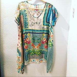 Johnny Was Boho Style Top Blouse